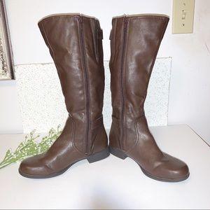 HUSH PUPPIES Brown Low Heel Boots
